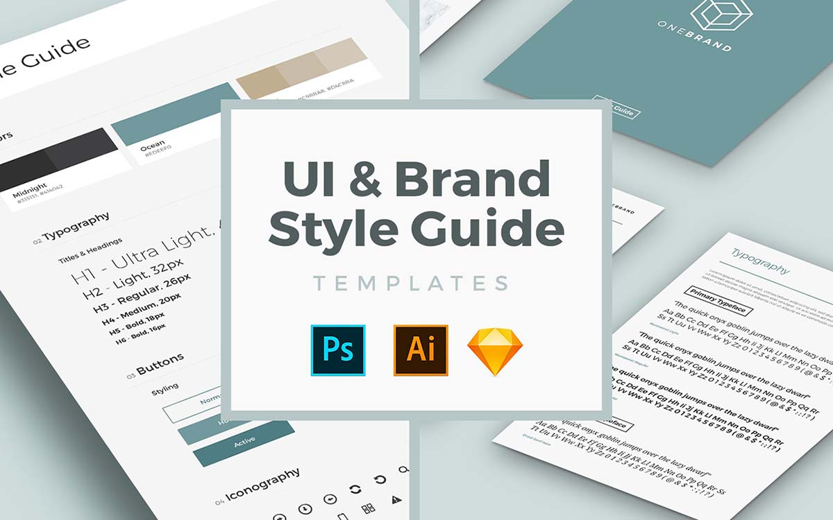 UI & Brand Style Guide Templat..