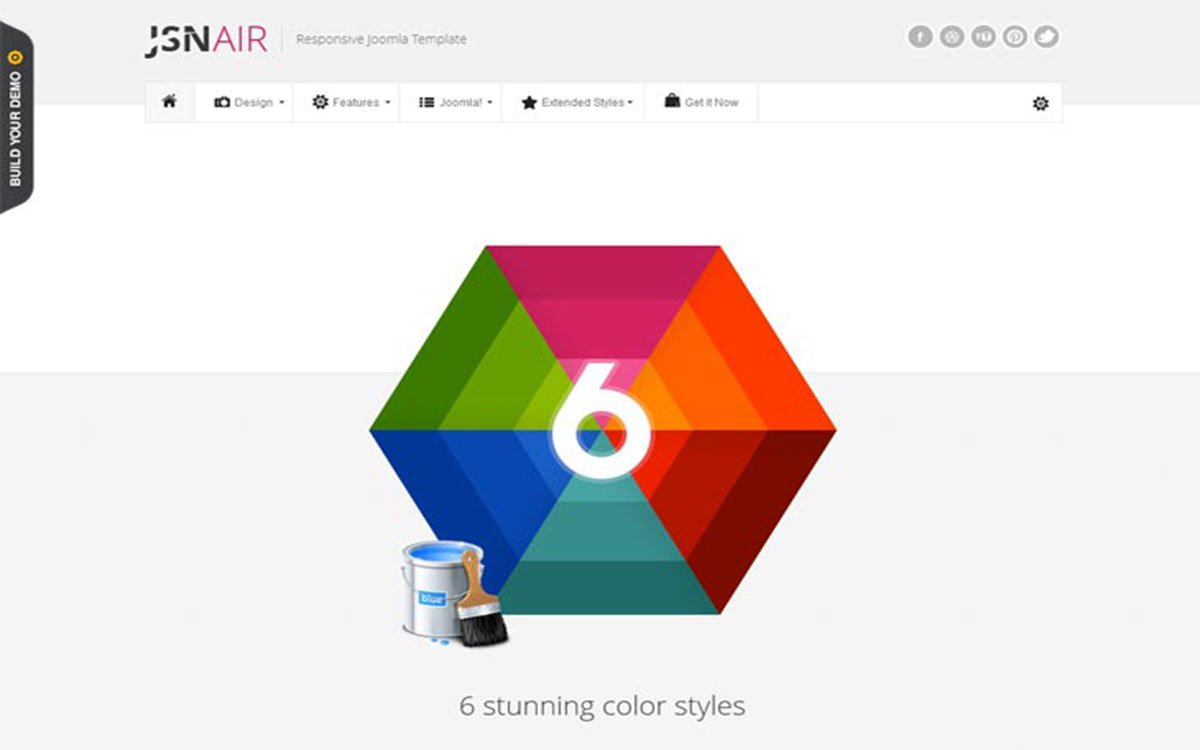 JSN Air шаблон для Joomla